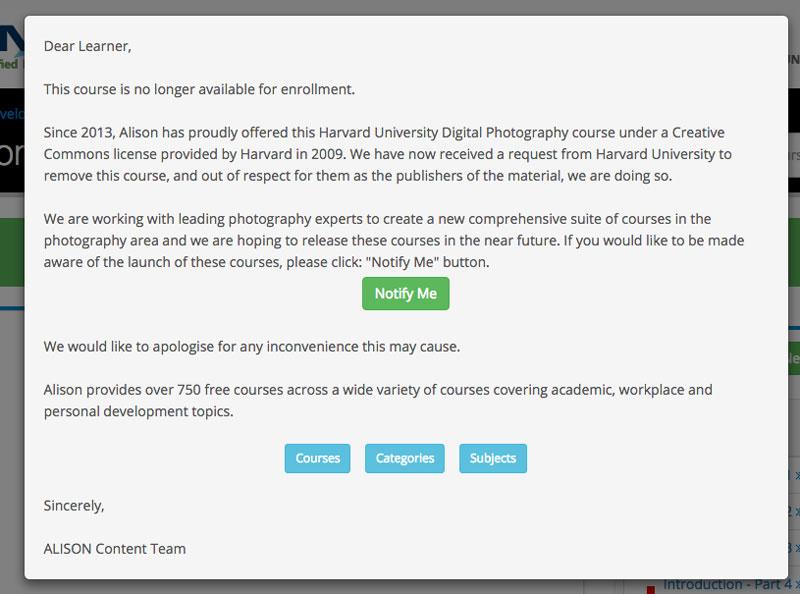 debunked: harvard photo class free online – fotohal